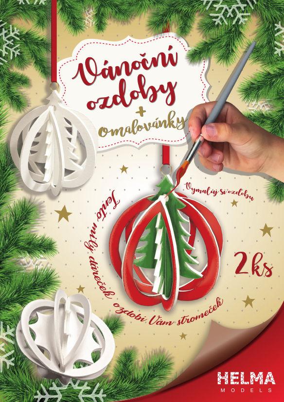 Vánoční ozdoby – stromeček + hvězdička