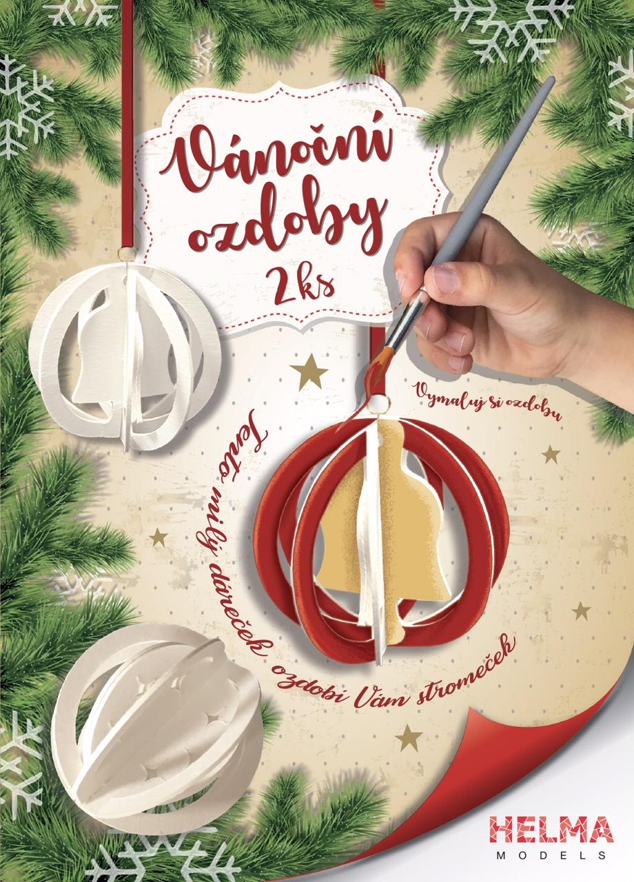 Vánoční ozdoby – zvoneček + hvězdičky