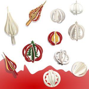 3Domalovánky Vánoční ozdoby